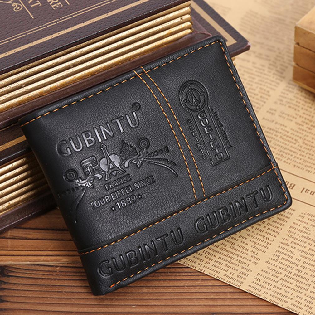 616c3cec5238 Ultra Thin GUBINTU Fashion Short Student Man Wallet PU Leather Purse Money  Bag