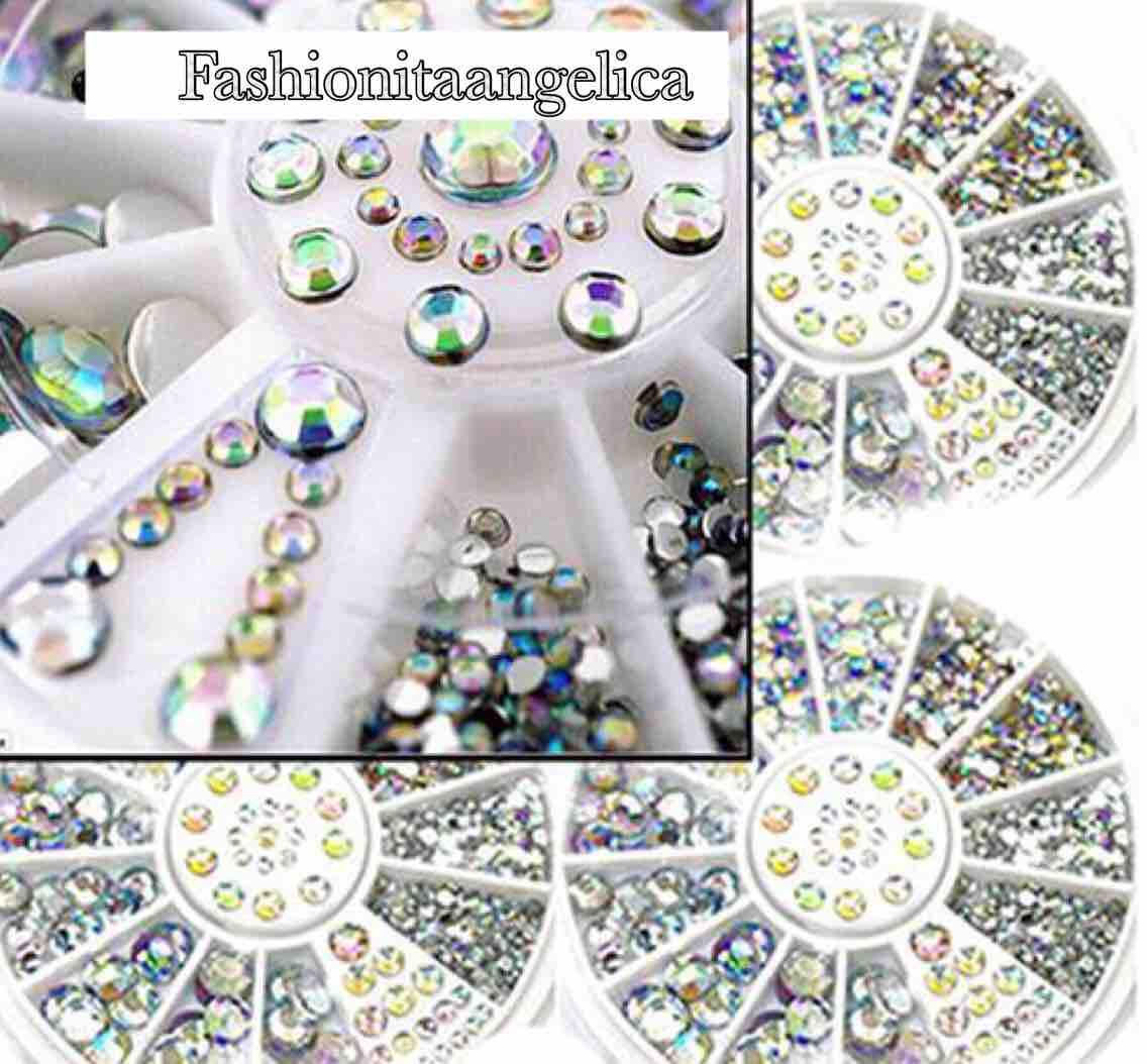 Luxury nail art crystal silver 5 sizes silver tip 3D art fashion Philippines