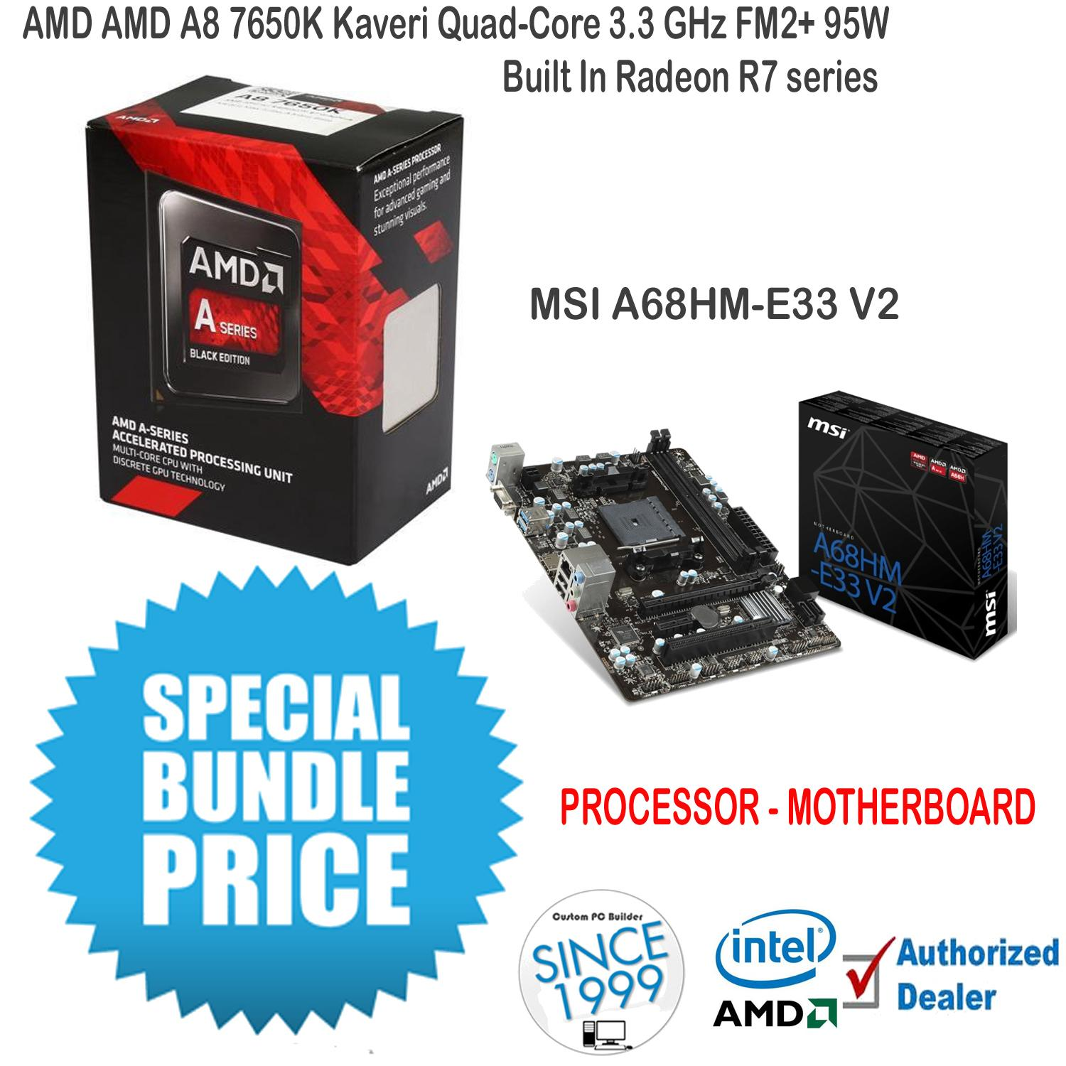 Buy Sell Cheapest Amd Kaveri A8 Best Quality Product Deals Asus A68hm K Motherboard Socket Fm2 Bundle Proc Mobo 7650k Quad Core 33 Ghz Msi