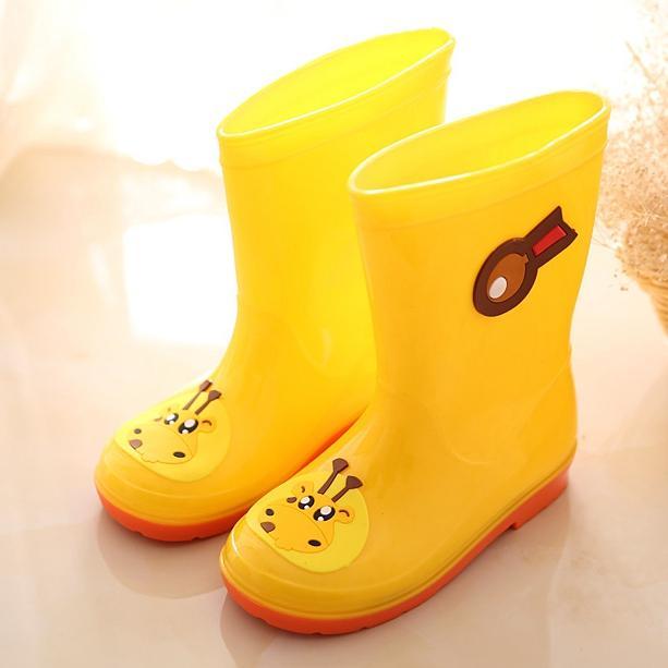 Musim semi dan musim panas anak-anak sepatu boots hujan Pria dan wanita Petpet Anti Selip sepatu bot hujan Kartun modis sepatu anti air Sedang anak kecil remaja anak Sepatu karet