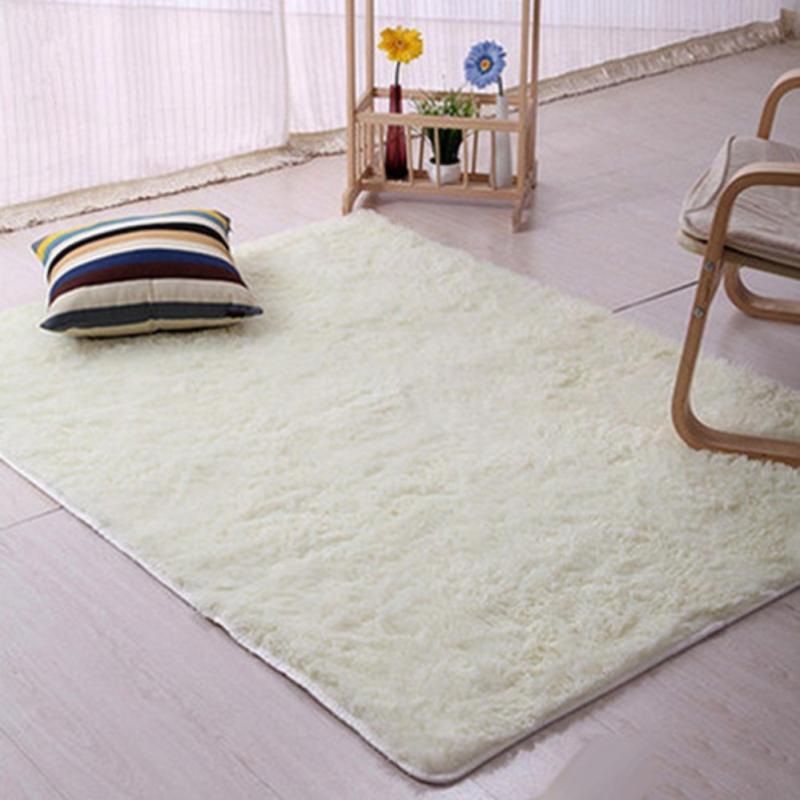 Sheto Modern Candy Color Soft Anti-Skid Carpet Flokati Shaggy Rug Living Bedroom Floor Mat