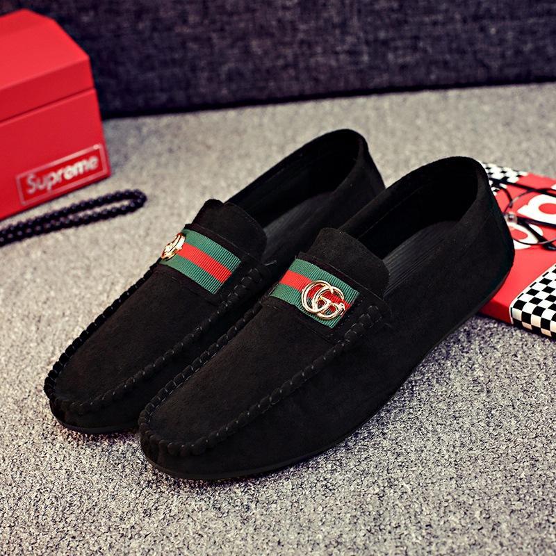 สไตล์ใหม่ในฤดูใบไม้ร่วงใหม่เพิ่มขนรองเท้า Tods ชายสครับขัดผิวสไตล์เกาหลีคนขี้เกียจมาดขรึมสังคมชายหนุ่ม Kuai Shou HONRN รุ่นเดียวกันรองเท้าผู้ชาย