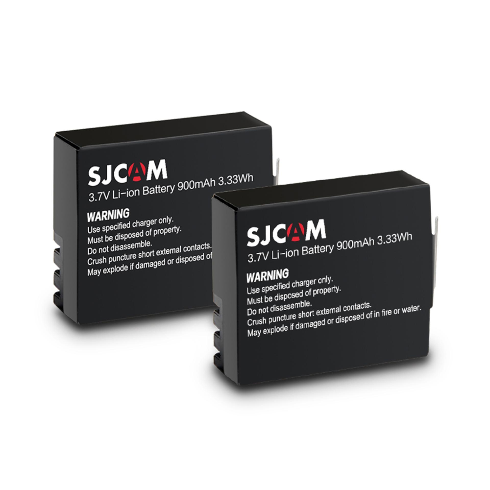 Sjcam 2 Pieces 900mah Replacement Battery For Sj4000, Sj5000, M10 (black) By Sjcam