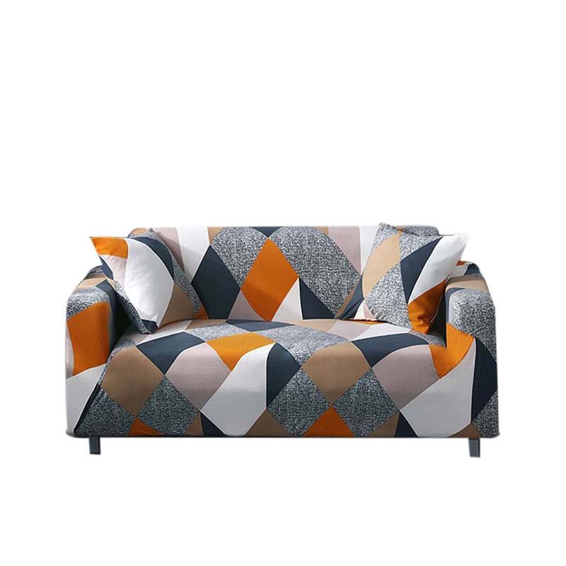 Sarung Peregangan Empat Musim Penutup Sofa Pelindung Perabotan Polyester Kursi Empuk Penutup Sofa untuk Satu/Dua/Tiga Kursi