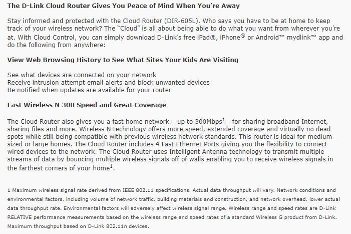 D-Link DIR-605L Wireless N 300 Home Cloud Router