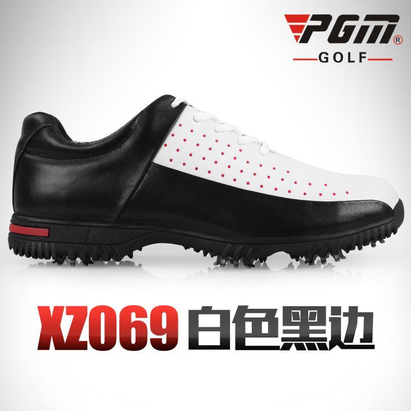 PGM Sepatu Golf Serat Mikro Anti Udara (Putih + Sisi Hitam) 985bf93eda