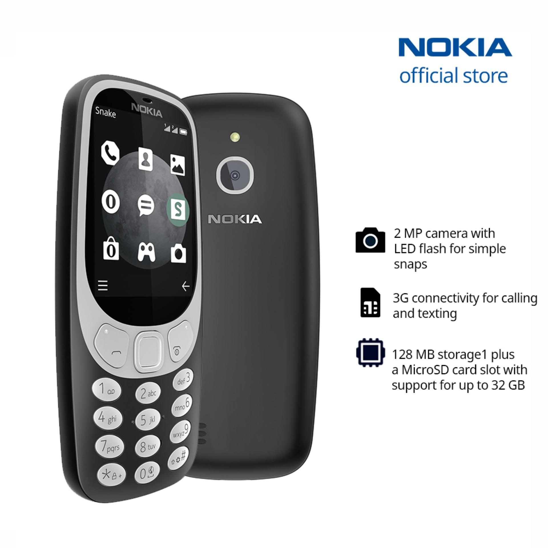 Nokia phone for sale up to 60 off lazada philippines nokia 3310 3g charcoal reheart Choice Image