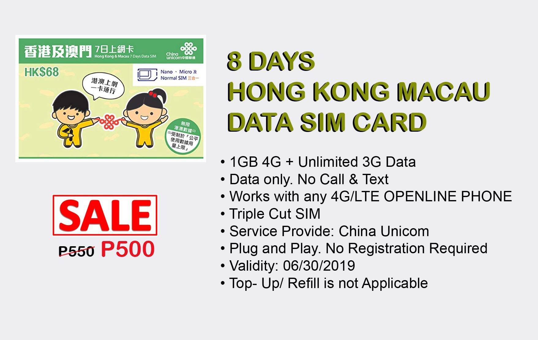Aktifator Simcard Sim Card Kartu Perdana Activator Hk Eropa Uk 30d 12gb Source Aktivator 8 Days
