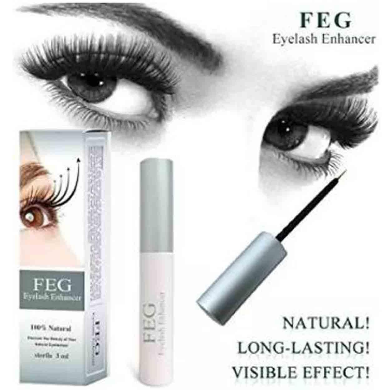 FEG Eyelash Enhancer Eye Lash Rapid Growth Serum Liquid 100% Natural 3ml (Black) Philippines