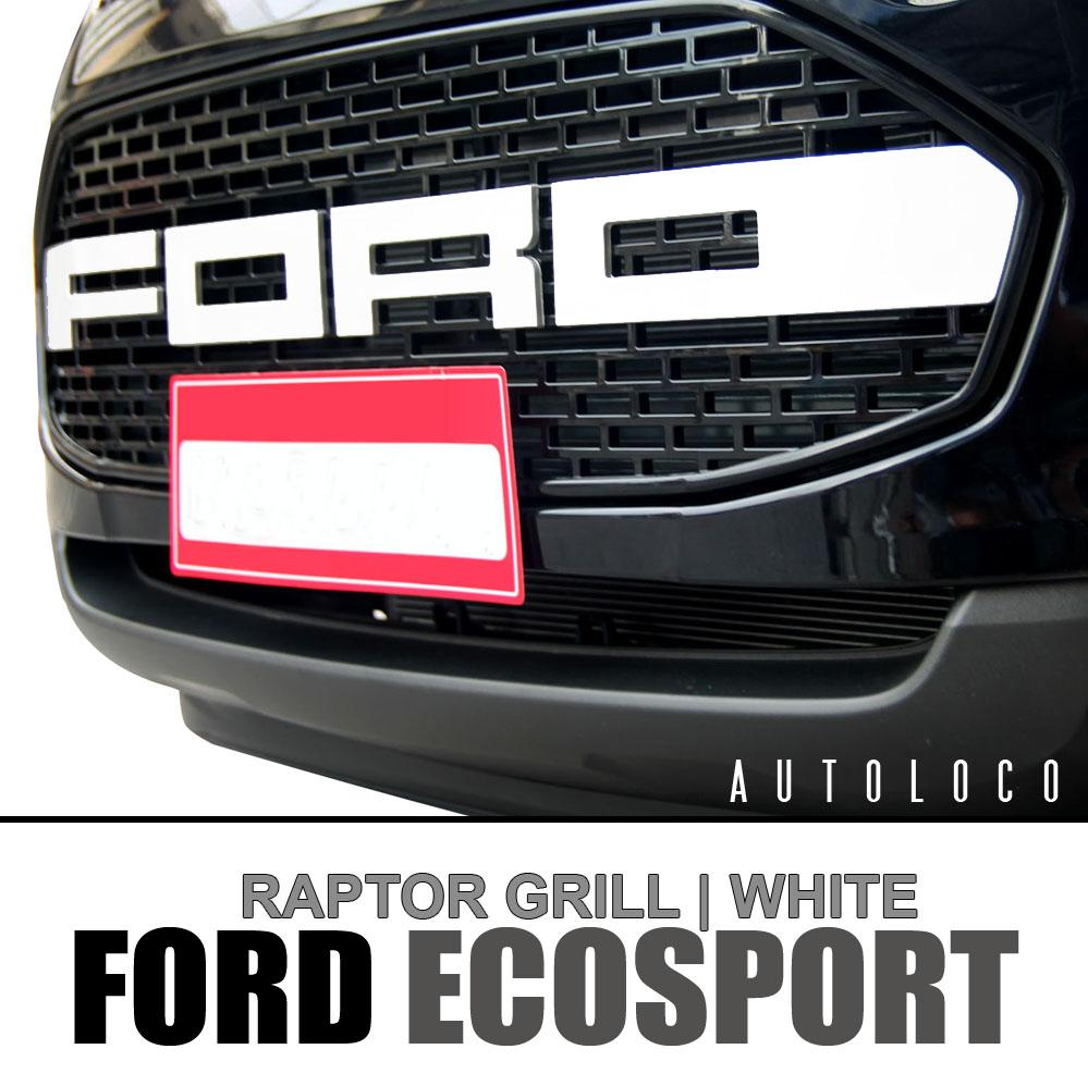 Raptor Grill For Ford Ecosport White Logo