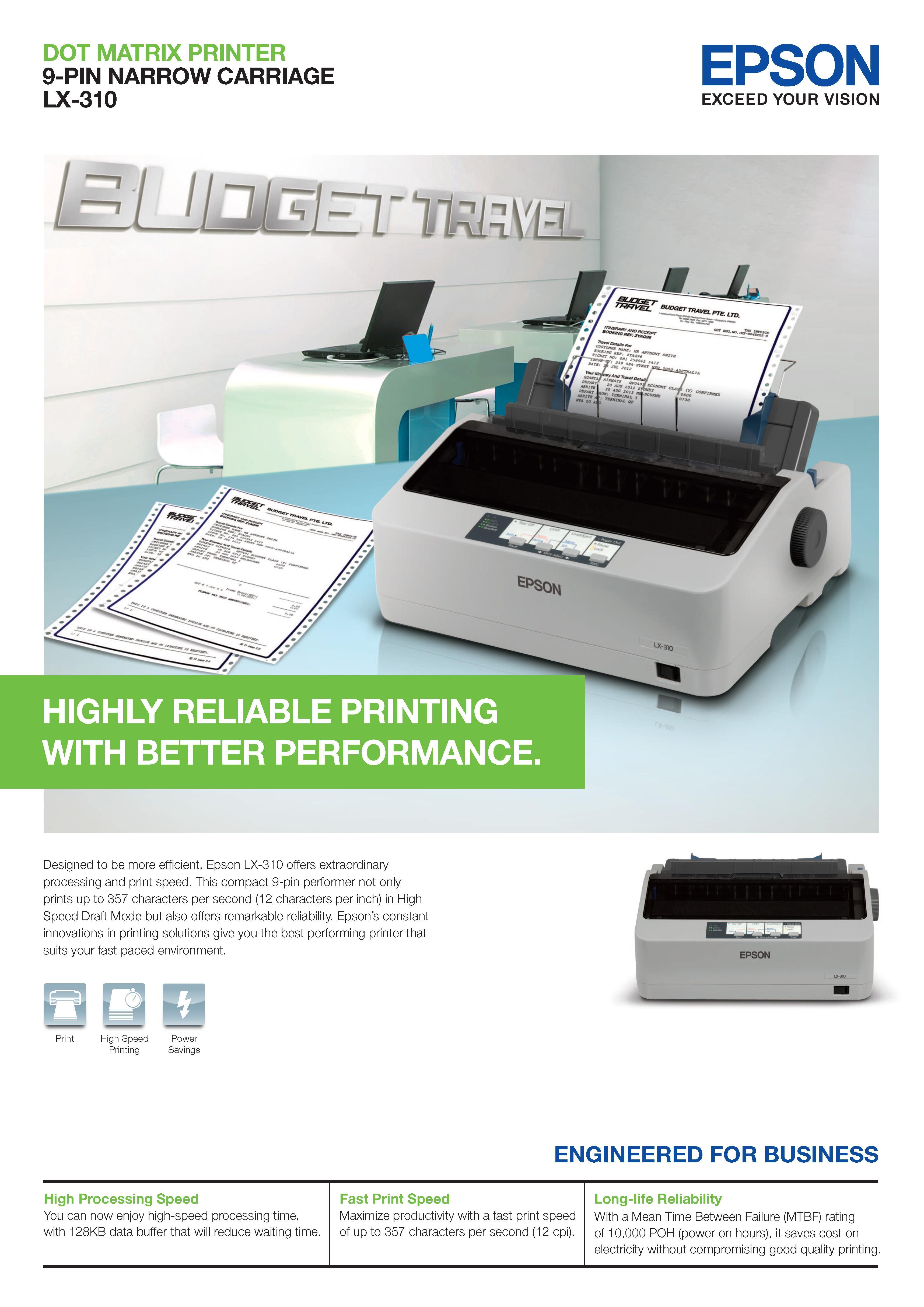 Epson Lx 310 Dot Matrix Printer Spec Dan Daftar Harga Terbaru Carriage Unit Lx310 Original New Page 1