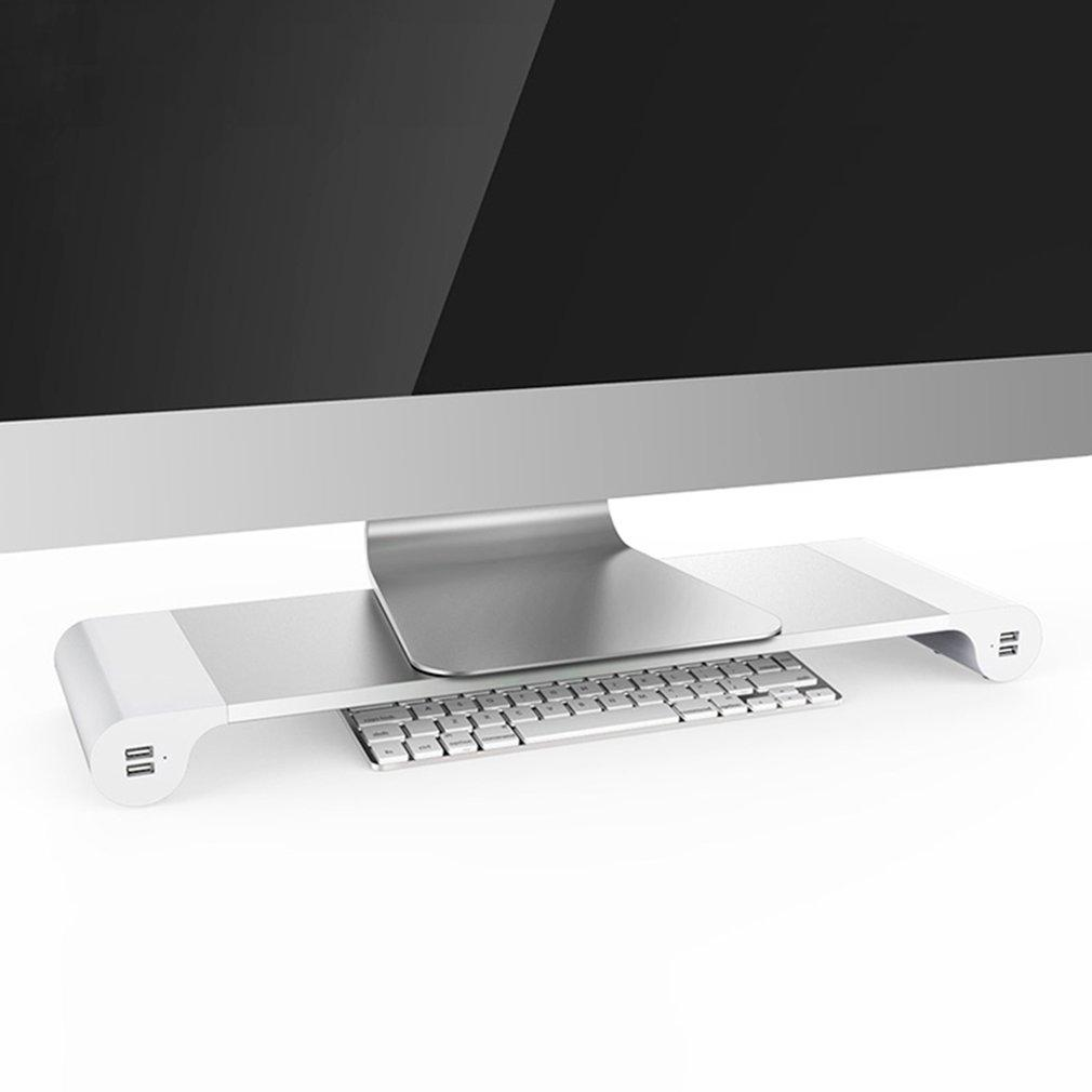 Classic Design Portable 4 Ports USB Laptop Computer Monitor Holder Bracket Save Space Heighten Stand For PC Computer