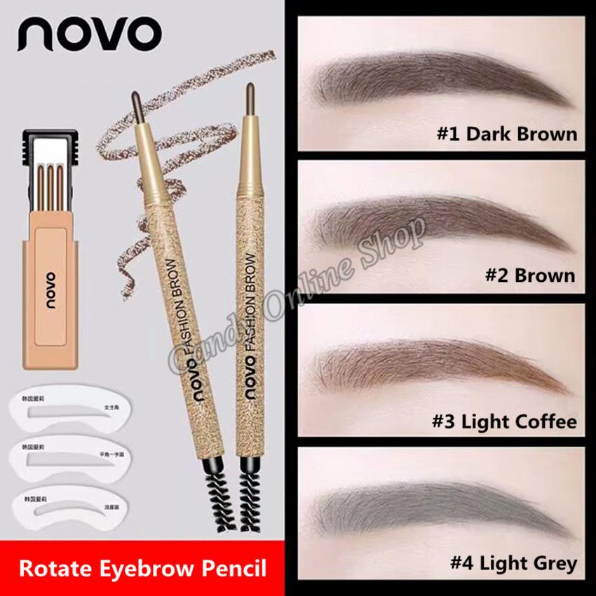 Candy Online Korea NOVO Automatic Rotating Eyebrow Pencil Set #5146 Philippines