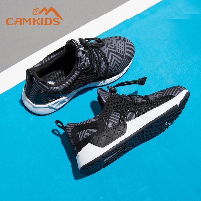 Camkids Sepatu anak laki-laki besar Sepatu anak sepatu lari 2019 Musim Semi dan Musim