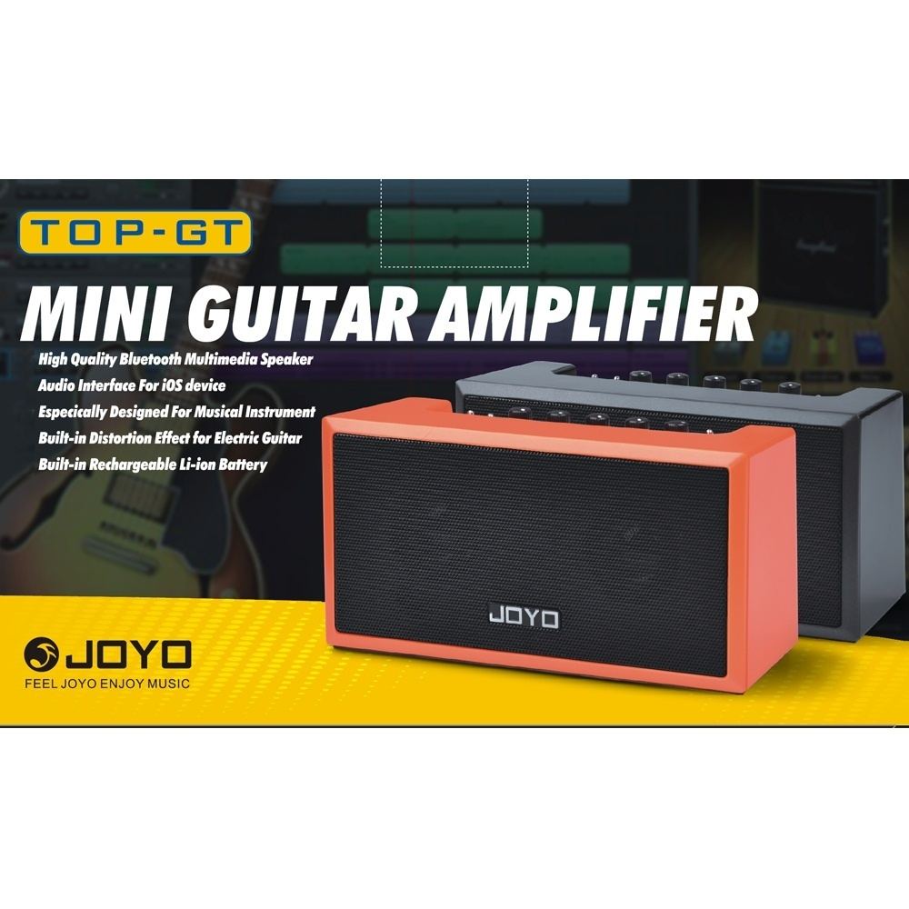 JOYO TOP-GT Mini Bluetooth 4 0 Guitar Amp-lifier Amp Speaker 2 * 4W with  Built-in Rechargeable for iPhone iPad iOS Devices Guitar APP Smartphone MP3