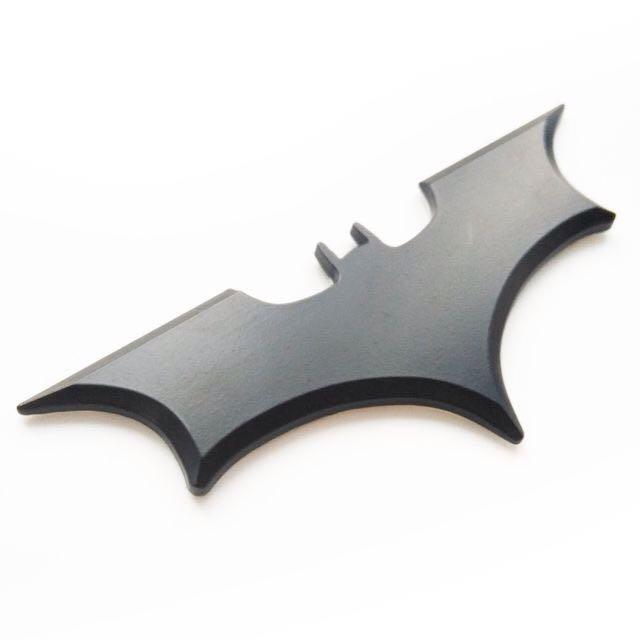 Batman Logo Plain Black 3d Metal Alloy Emblem Sticker By Speedure Trading.