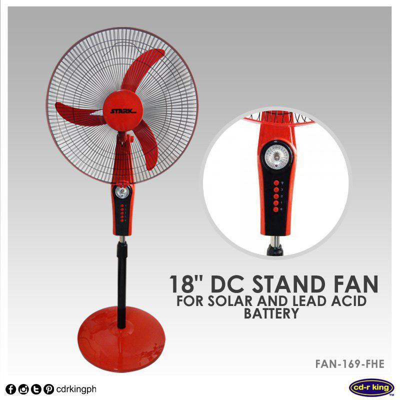 Stark 18 Quot Dc Stand Fan For Solar And Lead Acid Battery