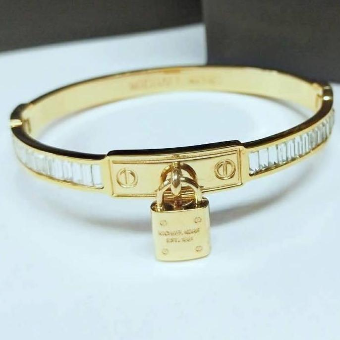 Fashion Jewelry High Grade18k Gold Plated with Tough stones Bracelet/Bangle for Women with Padlock