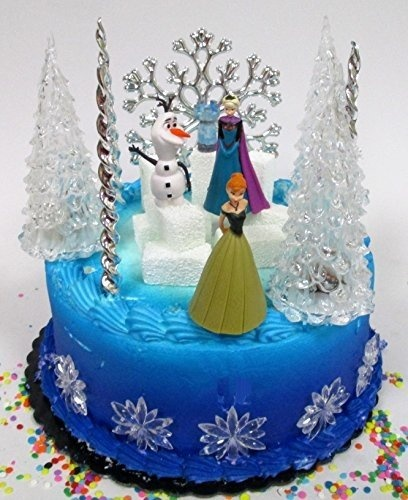 Excellent Winter Wonderland Princess Elsa Frozen Birthday Cake Topper Set Funny Birthday Cards Online Fluifree Goldxyz