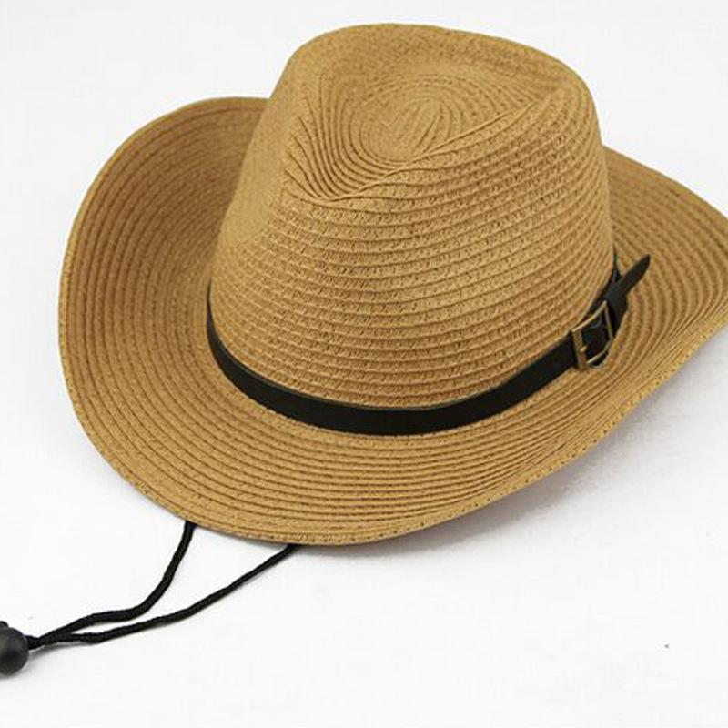 FC Pria/Anak Besar Eave Topi Kerudung Topi Koboi Jerami Cap untuk Mendaki Gunung Hutan Di Pantai Ultraviolet Tahan Topi Luar Ruangan Spesifikasi: dewasa Kode