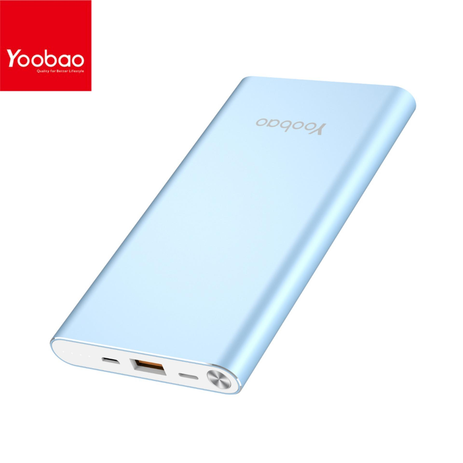 YOOBAO A1 Dual Input Li Polymer mAh Power Bank Blue