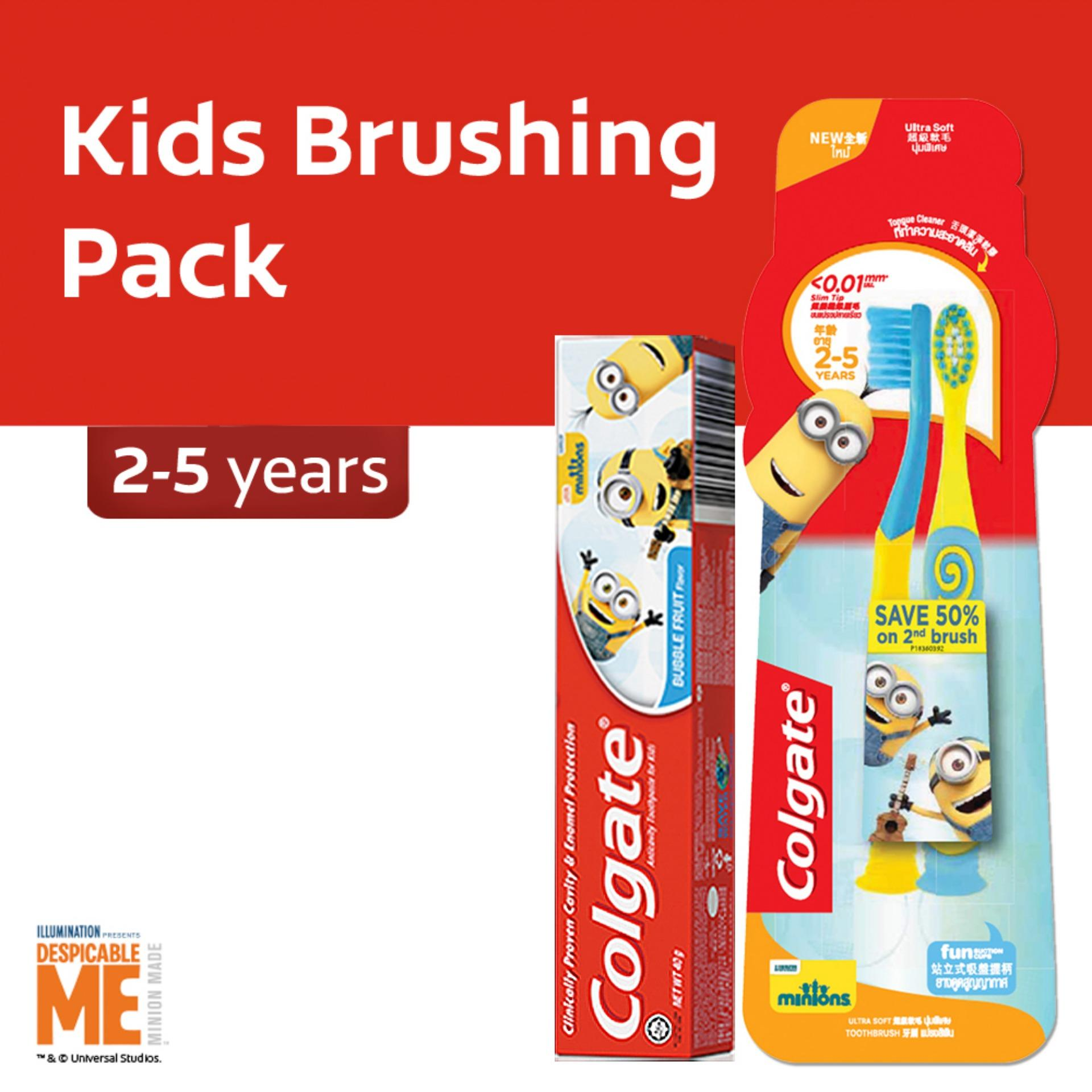 Colgate Minions Kids (2-5 Years Old) Oral Care Pack By Lazada Retail Colgate.