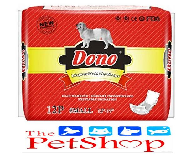 Dono Male Dog Disposable Diaper Small 12's