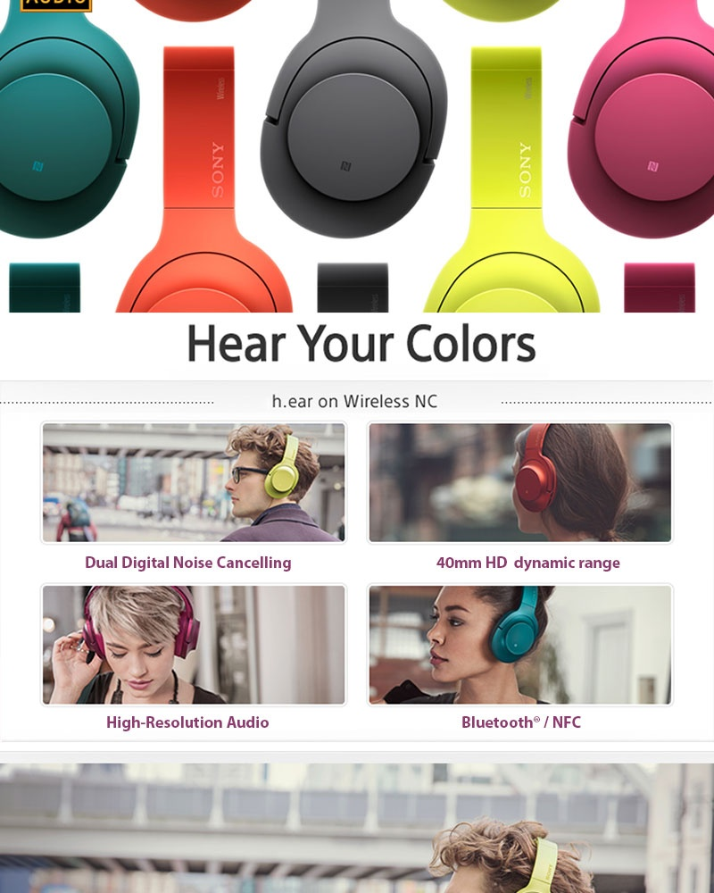 Sony Mdr 100abn 103db Stereo Subwoofer Wireless Bluetooth Headset Headphone Mdr100abn Noise Cancelling Specifications Of Blue Green
