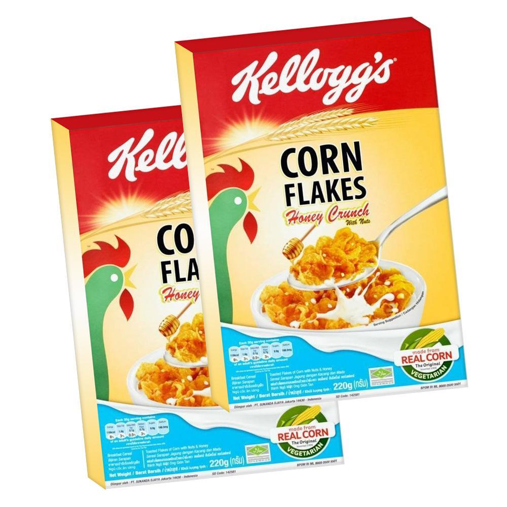 Kelloggs Corn Flakes Honey Crunch 220g Set of 2