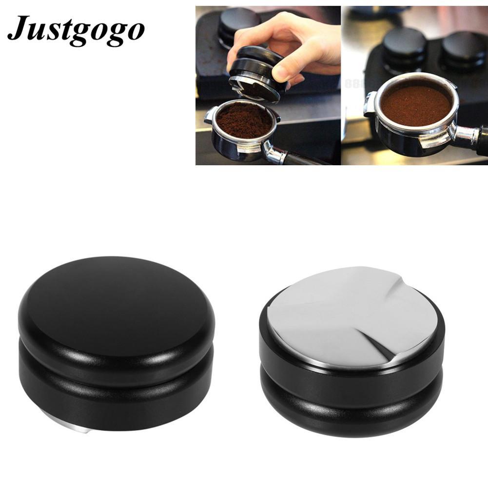 Stainless Steel Smart Coffee Tamper 58.5mm Base # Black Color - intl