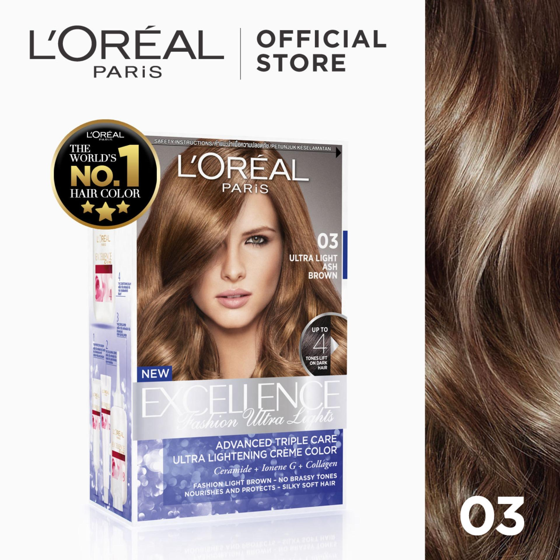 Hair color brands hair dye on sale prices set reviews in excellence fashion ultra lights 03 ash brown worlds no1 by l solutioingenieria Gallery