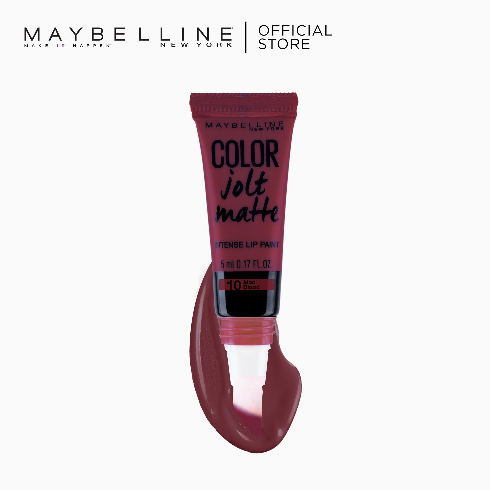 Color Jolt Matte Lip Paint – 10 Mad Blood [#PaintItMatte] by Maybelline Philippines