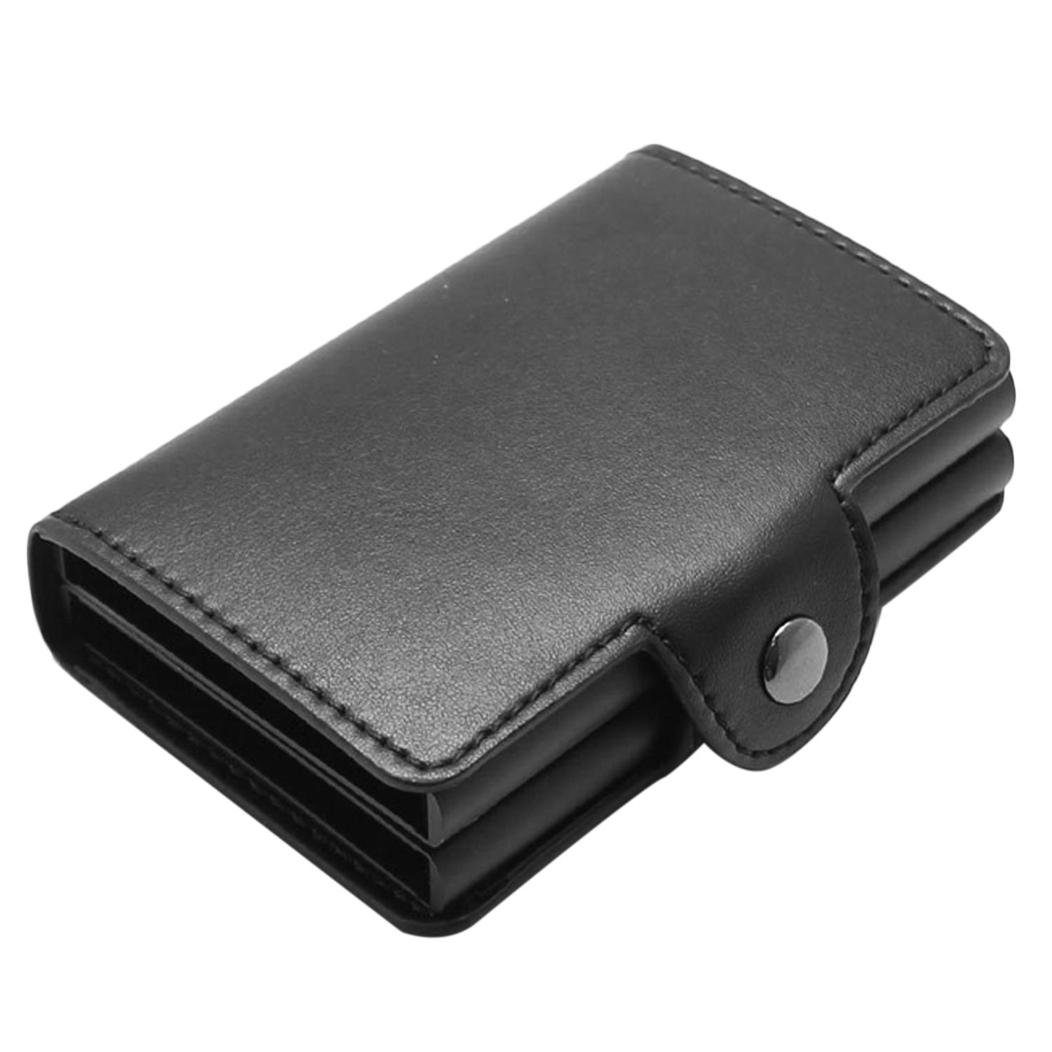 38a4edcec393 Automatic Pop Up RFID Blocking Anti-theft Microfiber Leather Card Wallets  Holder Case for Men Women Business Credit ID Gift Card (Black)
