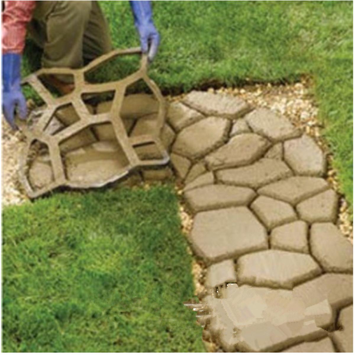 2pcs 49x49cm Pathmate Stone Mold Paving Concrete Stepping