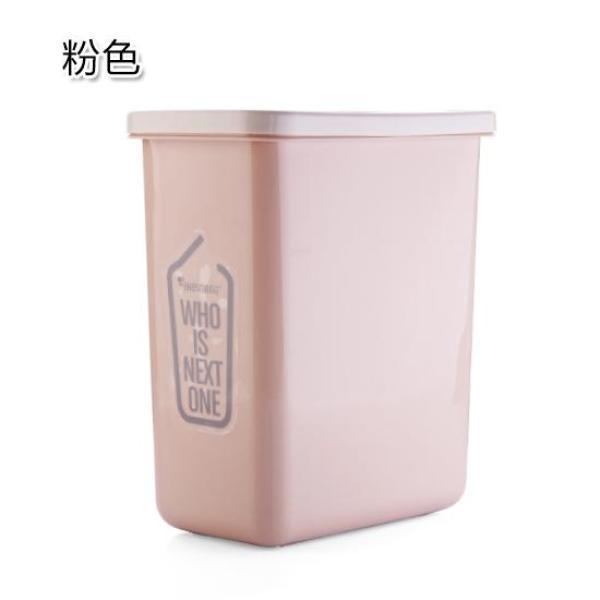 Household Creative Simple between Garbage Can Bathroom Flip Trash Can Household Living Room Rolling Cover Plastic Basket