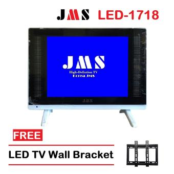 JMS 17 Inch LED TV  LED-1718W/Glass With Free Wall Bracket