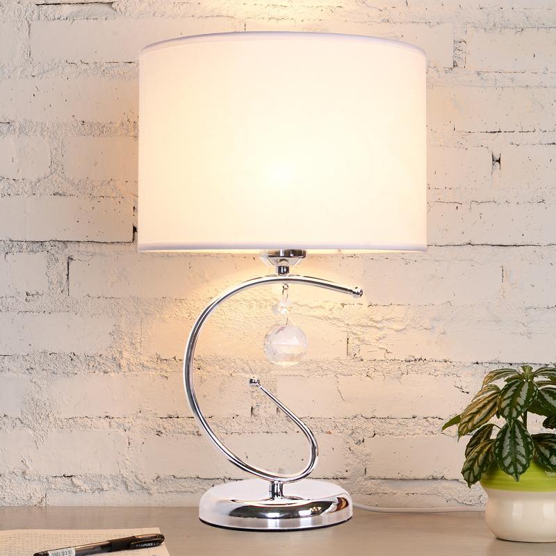 European-style Crystal Table Lamp Bedroom Fashion Bedside Lamp Modern Simple Creative Decorative Lights H43cm * W26cm - intl