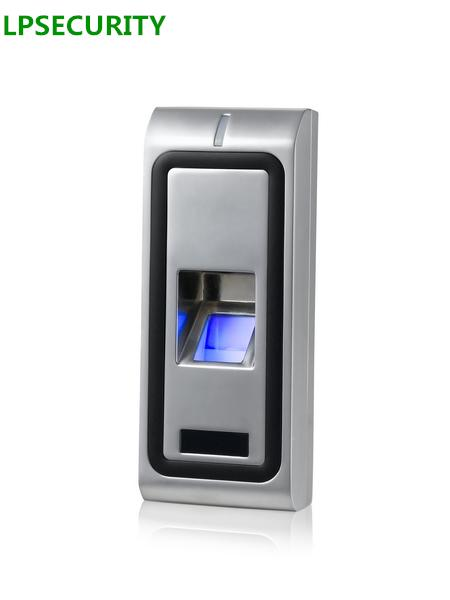 LPSECURITY Standalone Metal Case Door lock Biometric Fingerprint Access Control system RFID 125KHZ WG26 output Reader 500users - intl