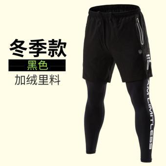 Pencarian Termurah Celana ketat olahraga celana panjang pria Seolah-olah Dua Potongan celana kebugaran pria
