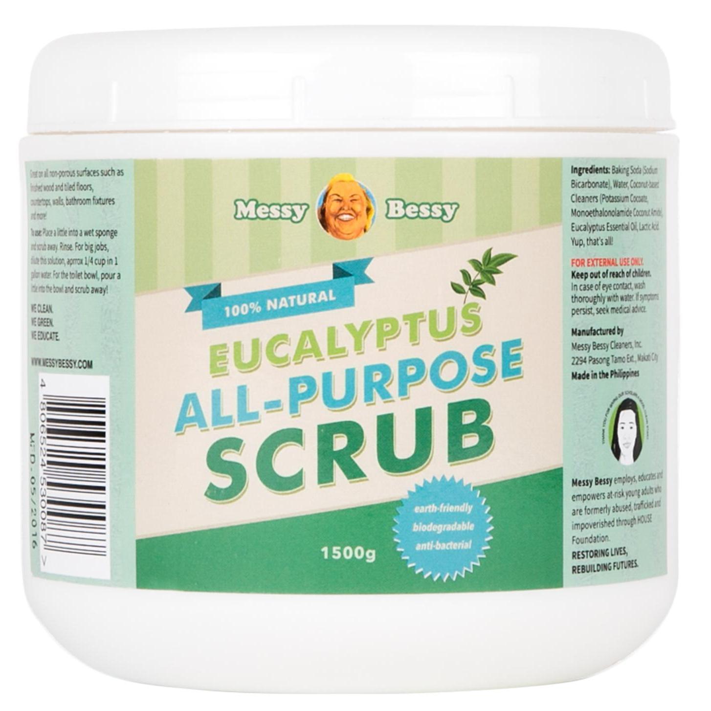 Messy Bessy Eucalyptus All Purpose Scrub 1500g