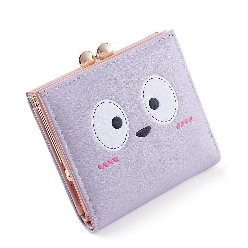 Tango sederhana perempuan bagian tipis lipat nol dompet dompet wanita (Ungu) (Ungu)