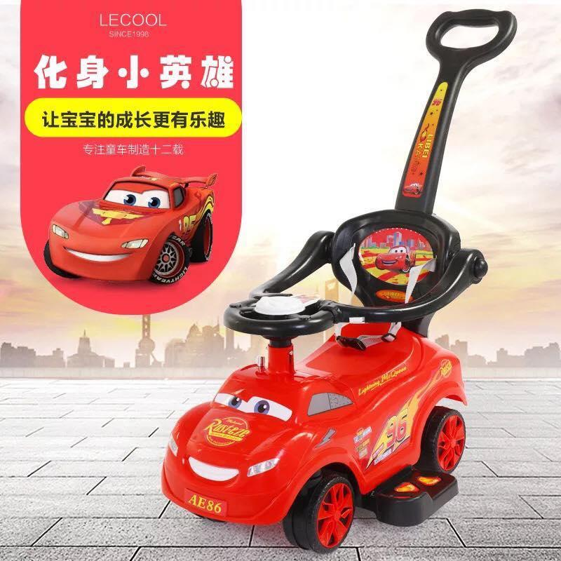 Cars 3 Lightning Mcqueen 3in1 Ride On Car Push Stroller With Music By Star Baby.