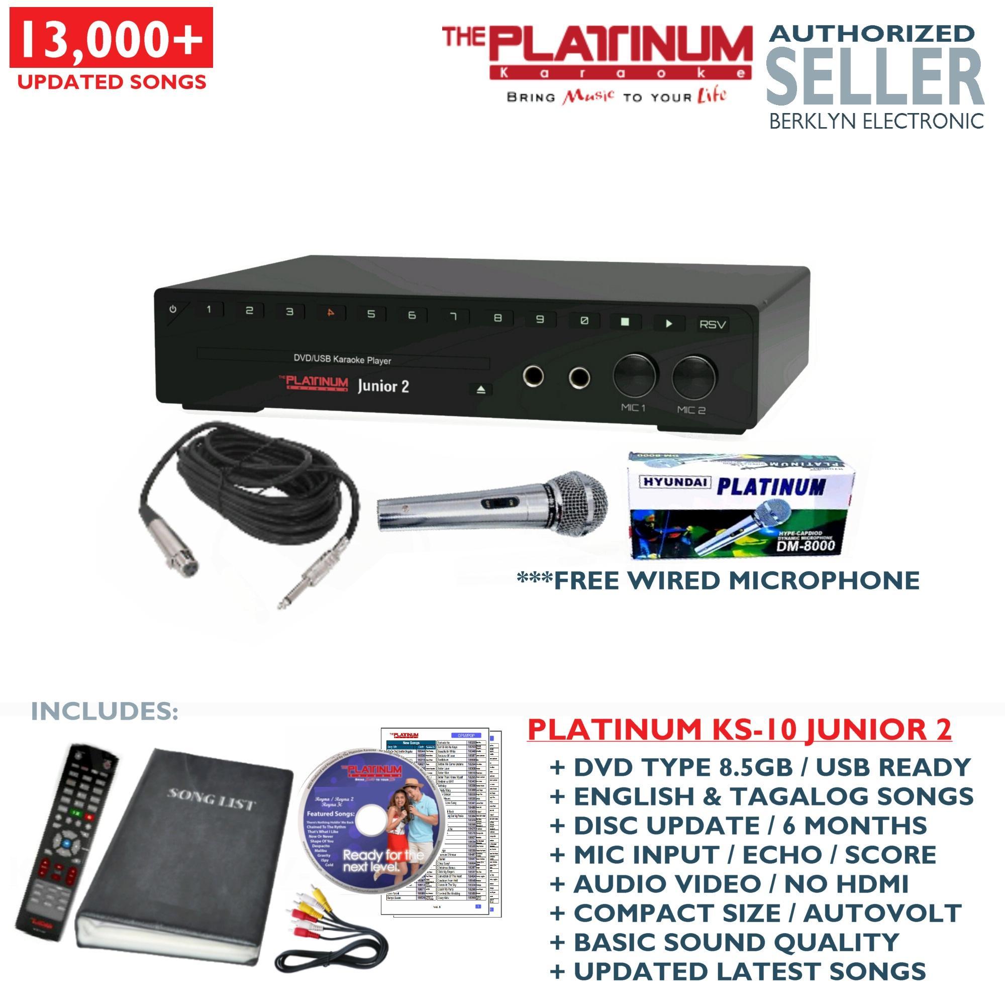 Platinum Philippines Price List Karaoke Player For Sale Videoke Speaker Wiring Ks 10 Junior 2 Dvd Songbook Remote Mic
