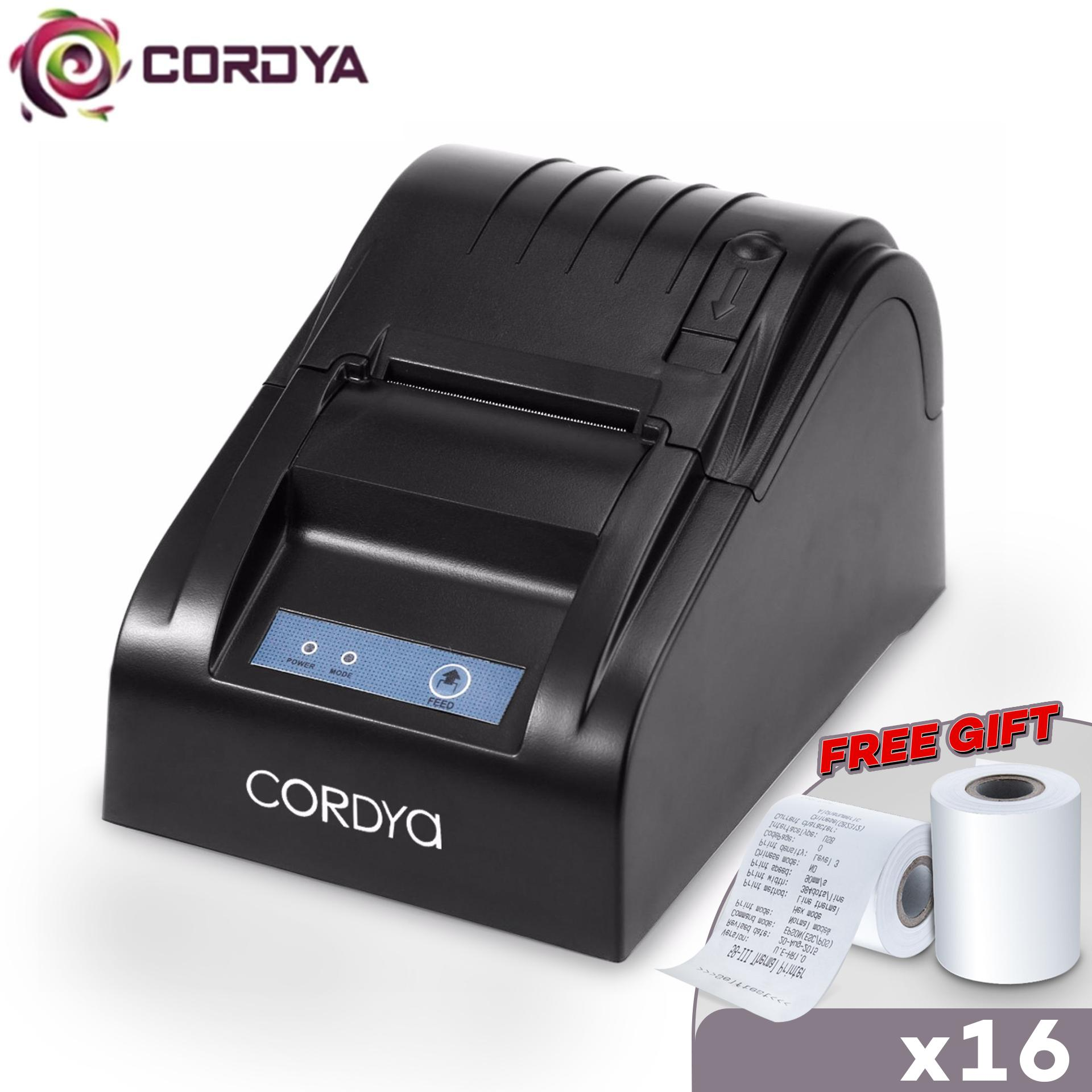 Cordya POS 5890T Portable 58mm USB Port POS Receipt Thermal Printer Black
