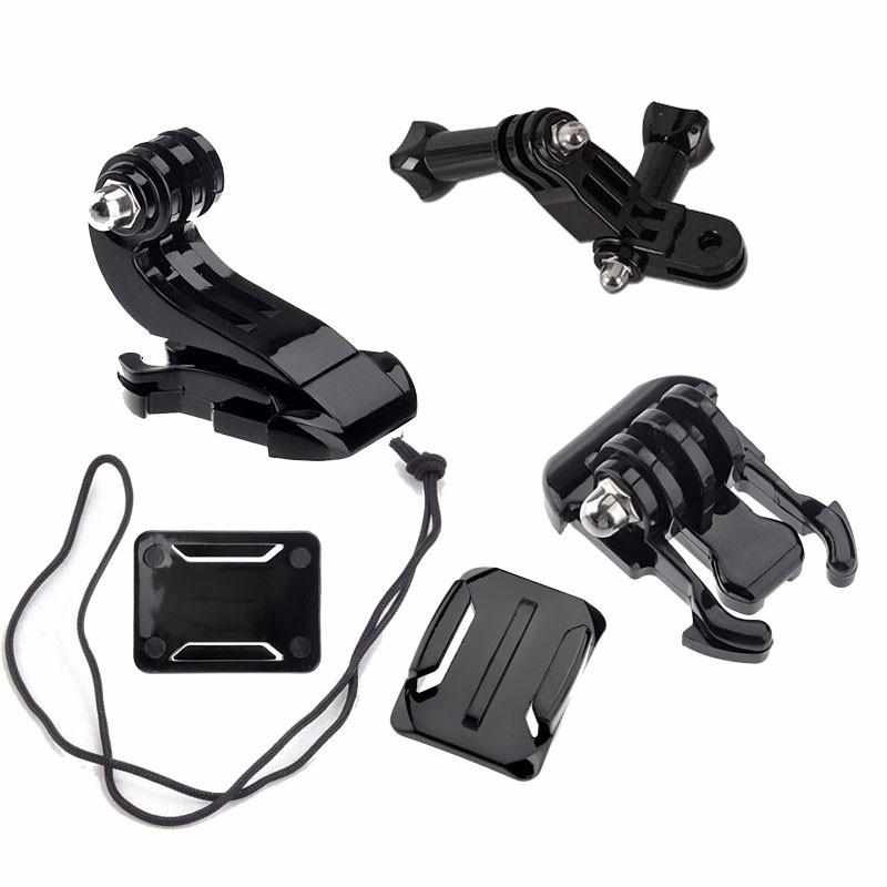 Action Camera Accessories Set For GoPro Hero 5 3 4 Xiaomi Yi 4K SJCAM SJ4000 Chest Strap Base Mount Go Pro Helmet Kits