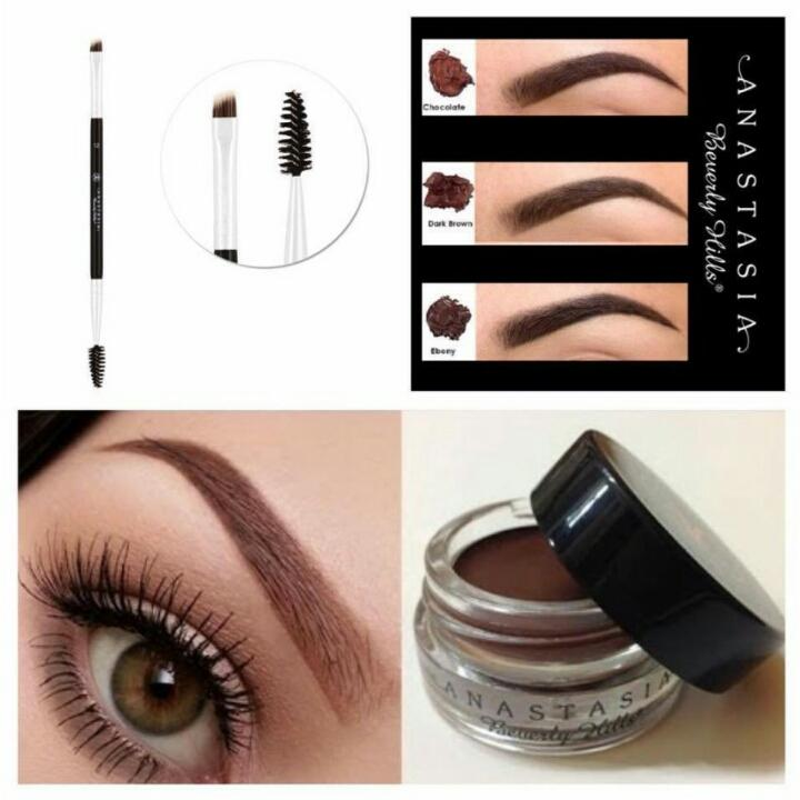 Anastasia Beverly Hills dipbrow pomade (chocolate) with free anastasia eyebrow brush Philippines