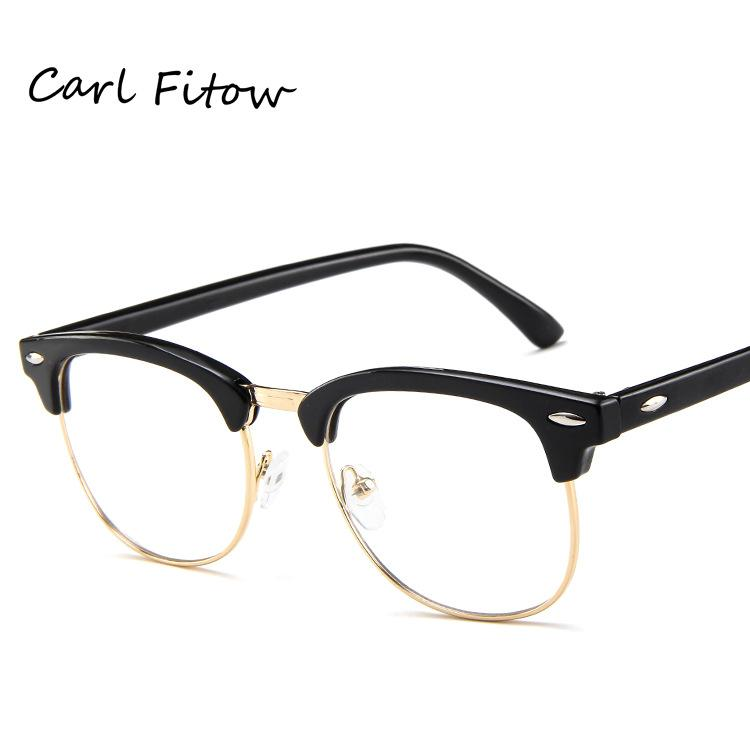 2acdc6814e2 Classic metal half-rimmed spectacle frames for men and women fashion  glasses frame Retro wild