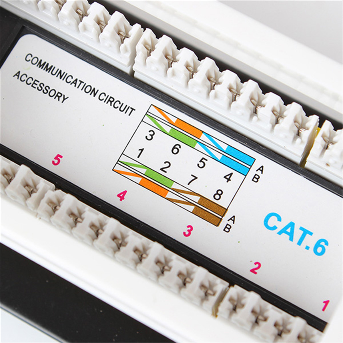 12 Port 10 Inch 110 Network Cat6 Rj45 Wall Surface Mount Patch Panel Wiring Image