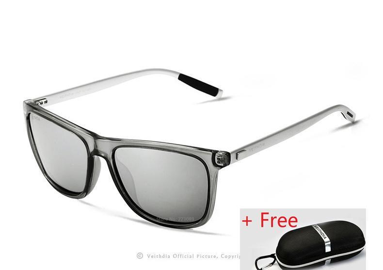 Rp 163.000. VEITHDIA Merek Unisex Retro Aluminium + TR90 Kacamata Terpolarisasi Lensa Vintage Eyewear Aksesoris ...