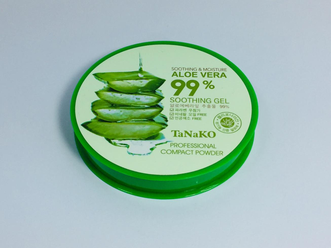 Tanako Moisturizing Smooth Foundation 99 % Aloe Vera Concealer Pores Cover Whitening Brighten Pressed Powder Philippines